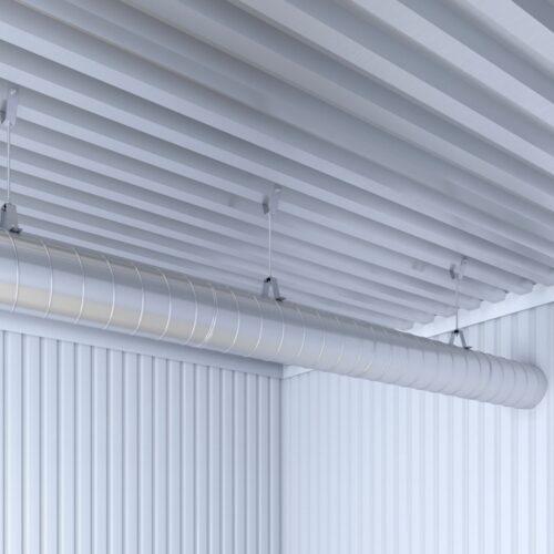 Виброизоляция воздуховода с виброкреплением ВиброКреп Про 8